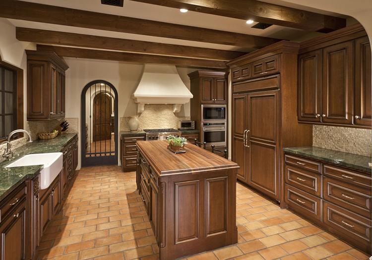 美式木橱柜装修设计图图片