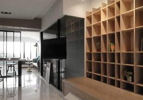 现代简约客厅收纳装修效果