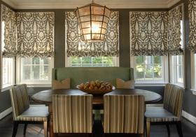 现代布纹窗帘美图欣赏