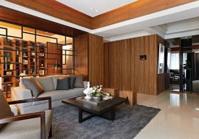 中式客厅搂空隔断美图