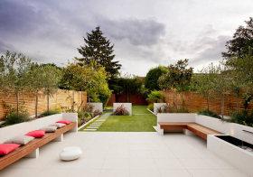白色现代花园美图