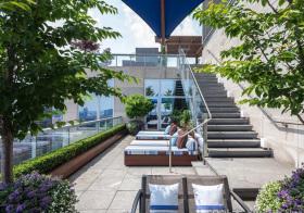 蓝色现代花园设计