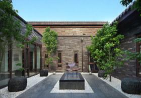 灰色中式花园设计