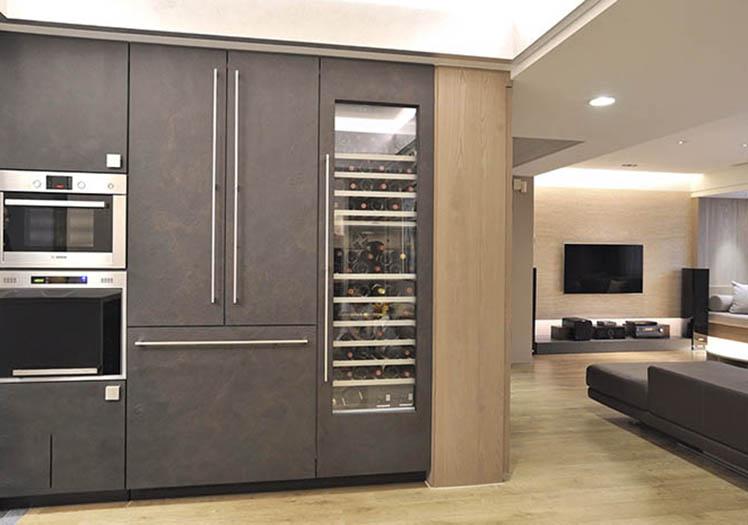 现代客厅酒柜装修设计图