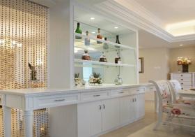 白色简约酒柜设计美图