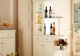 白色简约酒柜装修设计图