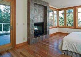 现代自然风卧室飘窗美图