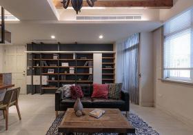 美式客厅墙面收纳设计