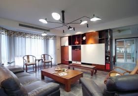 美式客厅收纳柜设计