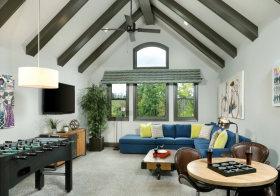 灰色现代阁楼设计