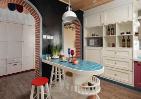 可爱地中海风格吧台装修设计