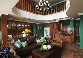 复古美式风格楼梯装修设计