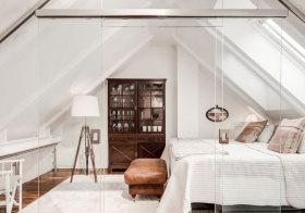 白色田园阁楼设计
