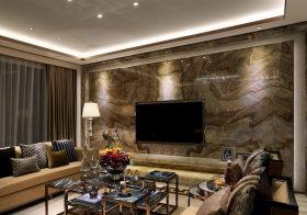 流纹现代客厅背景墙设计