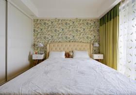 清新简约卧室背景墙设计