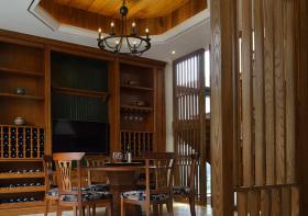 中式木质酒柜设计