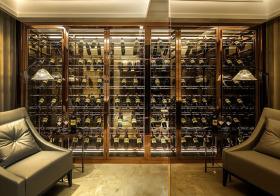 现代琉璃质酒柜设计