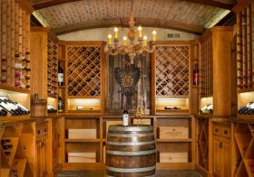 中式原木酒柜装修设计