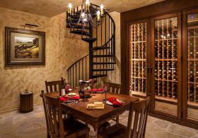 欧式复古酒柜装修设计