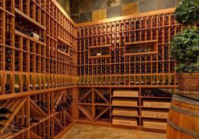 现代木架酒柜设计美图