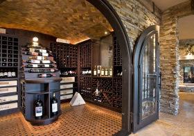 典雅美式酒柜设计美图