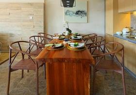 实木简约餐厅设计效果