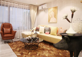 简洁现代客厅装修效果