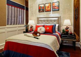 漫威风美式卧室装修设计