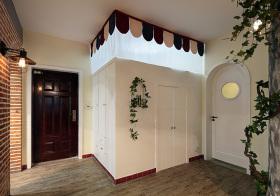 可爱美式玄关设计