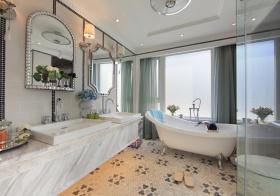 大理石欧式浴室柜设计