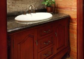美式实木浴室柜欣赏
