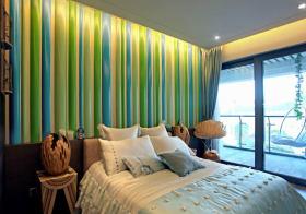 绿色现代背景墙欣赏
