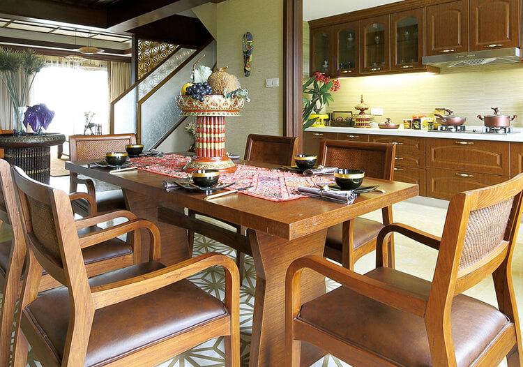 原木美式餐厅设计效果