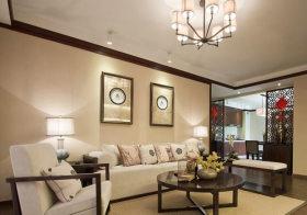 简洁新中式客厅装修效果