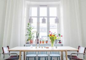 白色清新窗帘设计美图
