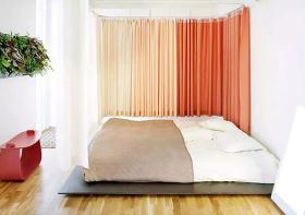 现代布艺窗帘装修效果图