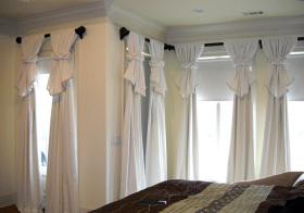 现代浴巾式窗帘装修效果图