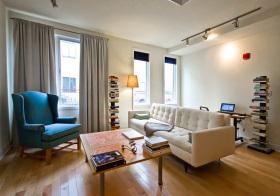 现代客厅窗帘装修效果图