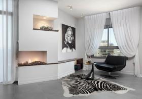 现代白色窗帘设计美图