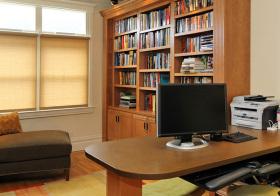 木质清新书房窗帘设计美图