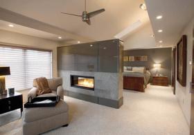 现代卧室隔断设计