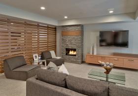 现代木质隔断设计欣赏