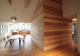现代木条隔断美图