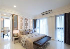 现代唯美卧室隔断欣赏
