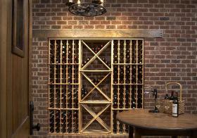 现代入墙式酒柜设计图