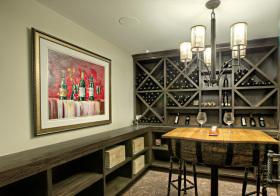 现代实木酒柜设计效果图