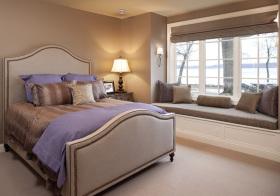 现代卧室清爽飘窗设计