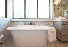 卫生间清新飘窗设计美图