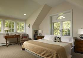 卧室清新简约飘窗设计