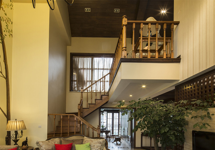 2016地中海风格绿色客厅吊顶美图图片